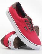 Red Vans Size 5