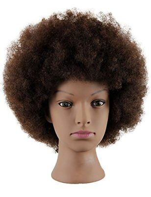 Mannequin Head African American With 100% Human Hair Cosm...