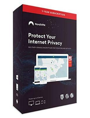 NV1C1Y Nordvpn Internet Privacy Software - 12 Month Subscription [6 Devices]