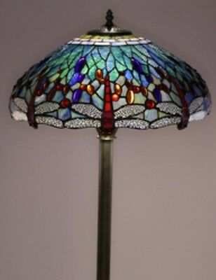 - Antique Tiffany-style Dragonfly Lamp Tiffany Lamps Floor Lighting Glass Metal