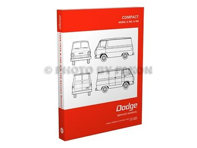1968 1969 1970 Dodge A100 A108 Van Repair Shop Manual Sportsman A 100 108 Pickup