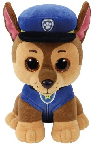 Paw Patrol Plüschtier Stofftier Kuscheltier Glubschi ty Plüsch Figur Chase Zuma Chase 24cm 7196319