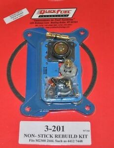 2 Barrel Carburetor Rebuild kit Holley 4412 2300 7448 350 500 CFM 3-201