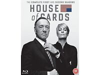 House of Cards Season 1&2 Blu Ray box set - new and sealed