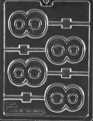 Number 8 Eight Lollipop Chocolate Mold   L057   Includes Melting   Chocolate Mol
