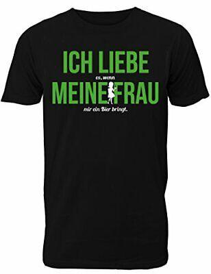 Fun T-Shirt Herren - mit Spruch Ich Liebe es Wenn Meine Frau Mir Ein Bier Bringt