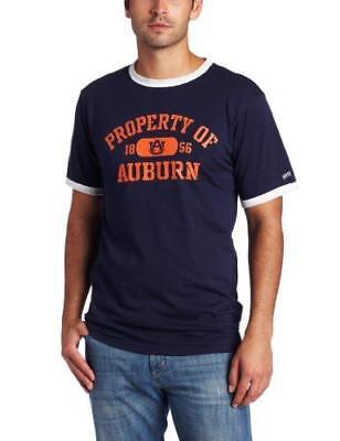 Auburn Tigers Navy   Orange W  White Trim T Shirt Men Guys Fan Student Gift New