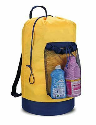 Dalykate Backpack Laundry Bag Laundry Backpack with Shoulder Straps and Mesh ...