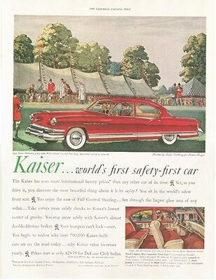 1953 Kaiser PRINT AD Manhattan Leslie Saalburg Fox hunting dogs  for sale  Shipping to Canada