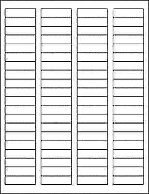 15 Sheets - 1200 Blank Return Address Labels - 1.75 X .5 - Free Shipping