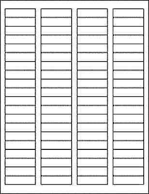 400 Blank Return Address Labels - 1.75 X .5 - Free Shipping