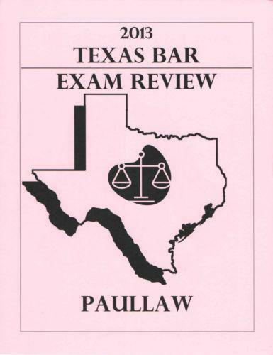 Texas Bar Examination Subject Overview