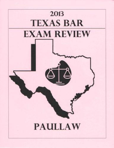 Texas bar exam essay subjects