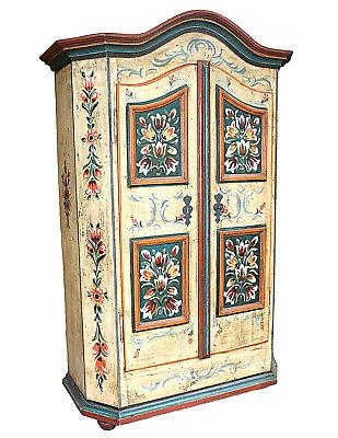 Alter Antiker Bauernschrank Bemalt Malerei 1830 Wäscheschrank Bayern Landhaus