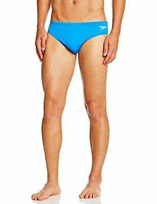Speedo Kostüm Herren Endurance + 7 cm Brief Am Blau/Weiß Slip Meer & - Speedo Schwimmen Kostüm