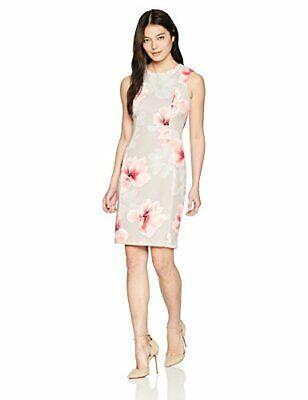 Calvin Klein NEW NWT Khaki Multi Modern Scuba fabric Dress Women size 2,4,6,8,14 ()
