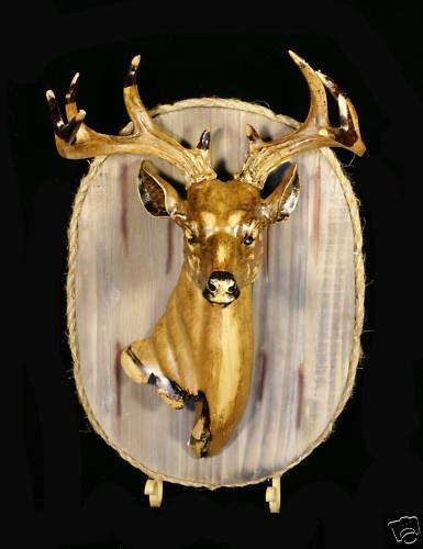 Wooden Deer Head Ebay