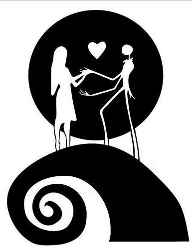 1- Nightmare before christmas car decal Jack and Sally Love window decal