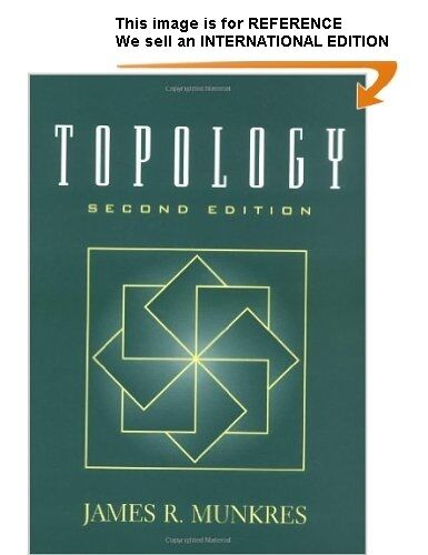 Topology by James R. Munkres - Int' Edition PaperBack - 2nd Ed