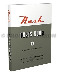 Nash-Illustrated-Parts-Book-1937-1938-1939-1940-1941-1942-Ambassador-Lafayette