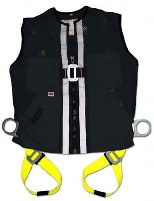 Guardian Fall Protection 02600 Black Mesh Construction Tux Harness Small