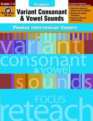 Phonics Intervention Centers: Variant Consonant and Vowel Sounds, Grades 1-3 (P](Variant Vowels)