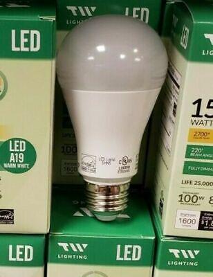 LED A19 Bulb 15Watt = 100W  Fully Dimmable Warm White energy saving* 100pk** 15w Energy Saving Bulb