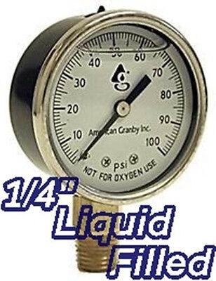 (9) Well Pump Water Pressure Gauge Liquid Filled 0-100 Ps...