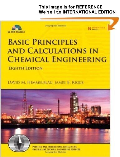 Basic Principles and Calculations in Chemical Engineering (Int' Ed Paperback)8E