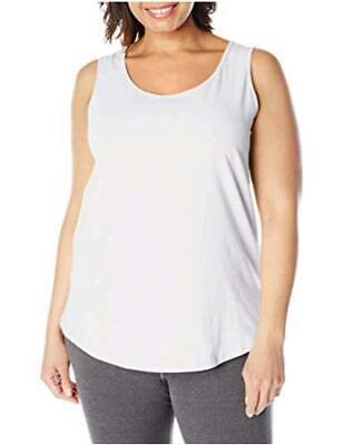 Women s Shirt-Tail Tank Top, White, 4X, White, Size 4.0 Yep9 - $13.99