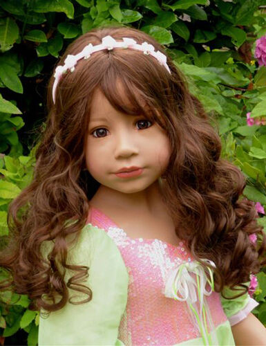 "Masterpiece Dolls Sleeping Beauty Brown Wig, Fits Up To 20"" Head"