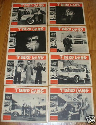 T BIRD GANG Roger Corman JD car racing Juvenile Delinquents 1959 lobby card set