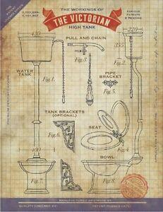 VICTORIAN TOILET PATENT - CRAPPER - BATHROOM - LOO - METAL PLAQUE TIN SIGN 1138
