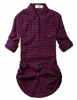 Match Women's Long Sleeve Plaid Flannel Shirt, 2021 Checks#2