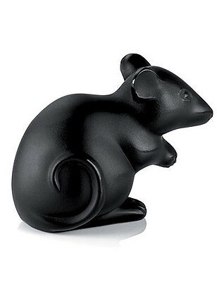 NEW LALIQUE BLACK MOUSE SEAL BRAND NEW IN BOX #10055900 FRENCH CRYSTAL CUTE F/SH