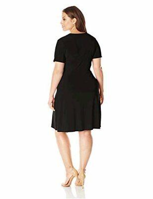 Women s Plus-Size Short Sleeve Ballerina Wrap, Black Solid, Size 3.0 FyD2 - $13.99