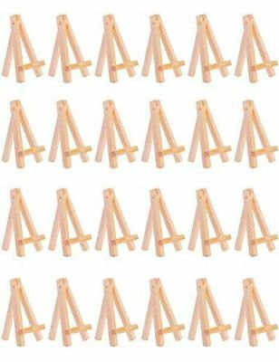24pcs Mini Wooden Easel Small Wood Display Stand, 6.25 Inch](Wooden Easel Stand)
