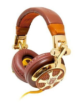 ZAGG iFrogz EarPollution DJ-Style Stereo Headphones Billionaire Gold/Brown NEW