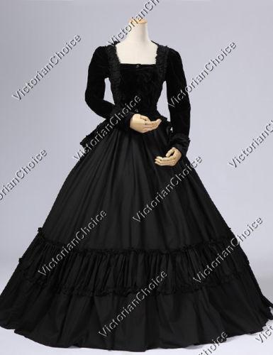 Black Victorian Dress Ebay