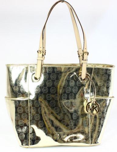 Michael Kors Gold Metallic Handbag Ebay