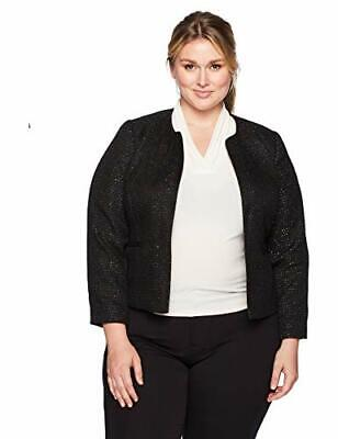 Nine West Women's Plus Size 16W Sequin Tweed Jacket (213)