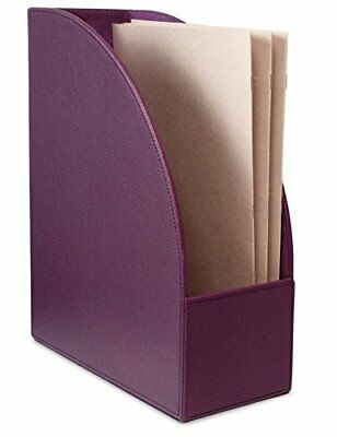 Realspacetm Executive Leatherette Magazinefile Holder Purple - 2 Pack