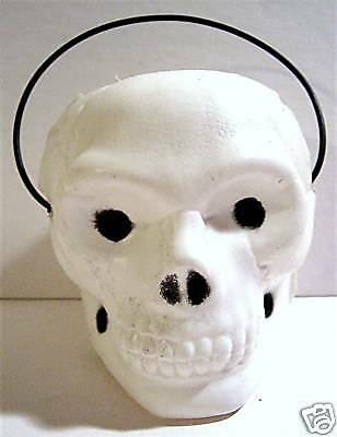 1970's Halloween Skull Candy Container/ Old Store Stock - Halloween Candy Store