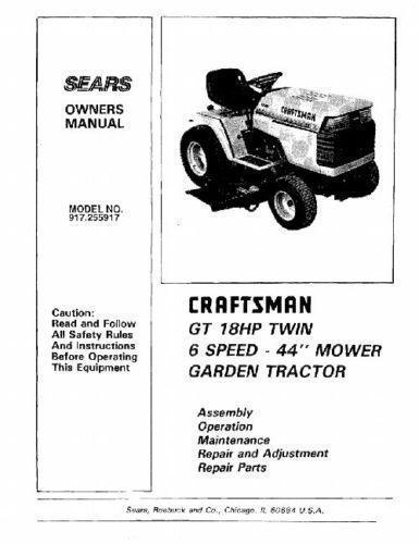 Free Craftsman Lt1000 Repair manual