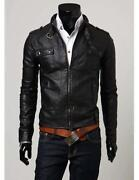 Mens Faux Leather Jacket Small