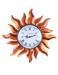 Indoor Outdoor Wall Clock Waterproof Wall Mounted Exquisite Decoration Does Sun