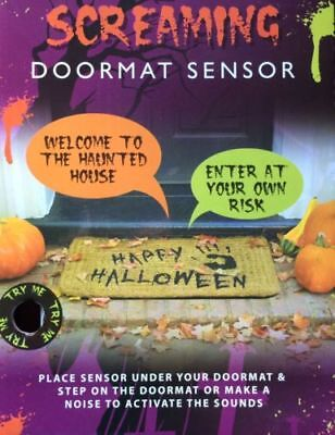 Screaming Doormat Sensor Noise Touch Activated Spooky Halloween Prop Talking  - Screaming Doormat