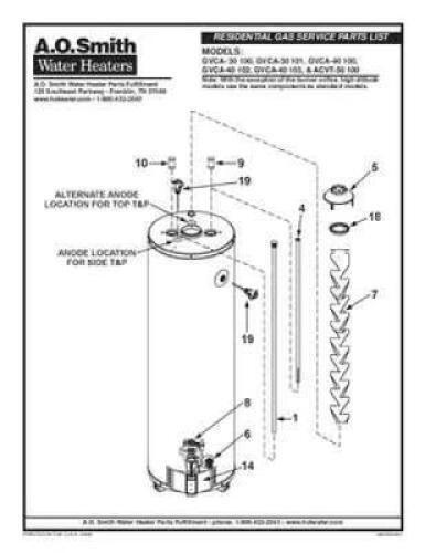 30 gallon gas water heater