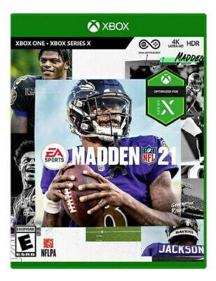 Madden NFL 21 (Microsoft Xbox One, XBOX Series X) 2021 - Brand New Sealed 4K