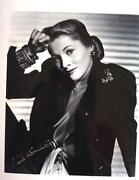 Joan Fontaine Signed